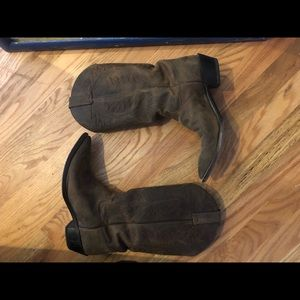 Justin women's cowboy boots - brown - size 10
